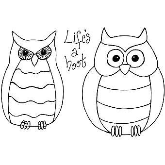 Lindsay Mason Designs Zendoodles Owls Clear Stamp