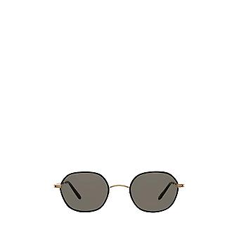 Garrett Leight NORFOLK SUN black-gold unisex sunglasses