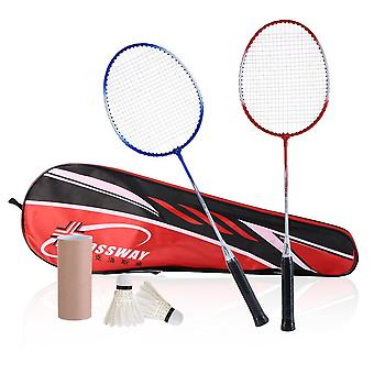 Professional Badminton Kit 2pcs Rackets+2pcs Shuttlecock +carrying Bag