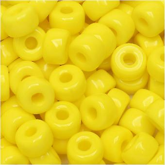 Matubo de verre tchèque, perle de graine 2/0, tube de 20 grammes, jaune opaque
