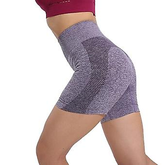 Frauen Sommer Yoga Shorts Leggings Seite Mesh nahtlos elastisch einfarbige Fitness-Studio Kleidung
