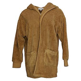 Koolaburra By UGG Women's Sweater Cozy Shaggy Plush Cardigan Brown A386142