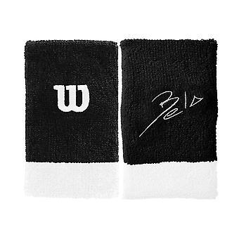 Wilson, 2x Sweatband - Bela - Negro