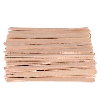 100pcs/lot Waxing Craft Wax Stick Tattoo Medical Wooden Sticks Wooden Face Hair