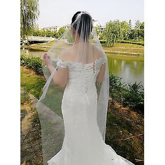 New Arrive Edge Comb Long Bridal Veils