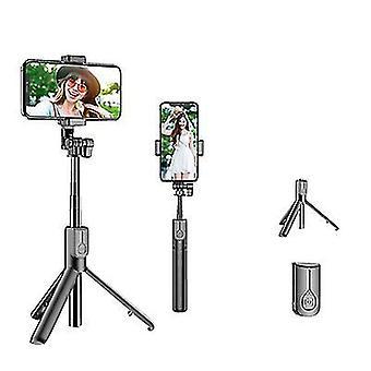 Ohne hellschwarze Bluetooth Selfie Stick mit LED-Ringlicht, erweiterbare Handheld Live Stativ az5954