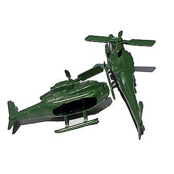 New 2pcs World War Military Helicopter Set Battlefield Figures Playset 13cm ES12797