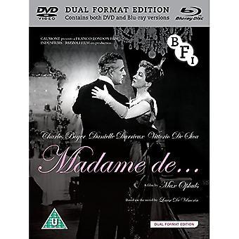 Madame de... DVD Blu-ray