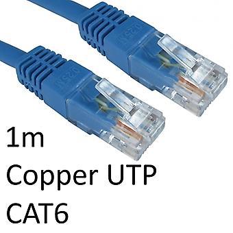 RJ45 (M) til RJ45 (M) CAT6 1m blå OEM støpt oppstart kobber UTP nettverkskabel