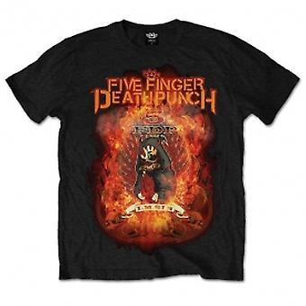 Five Finger Death Punch Mens Tee: Burn in Sin Large Black