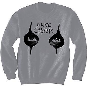 Alice Cooper - Eyes Men's Small Sweatshirt - Grey