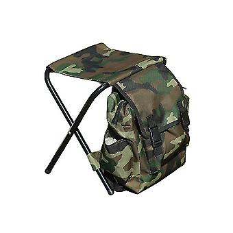 Sac à dos extérieur portable de tabouret pliant de camouflage