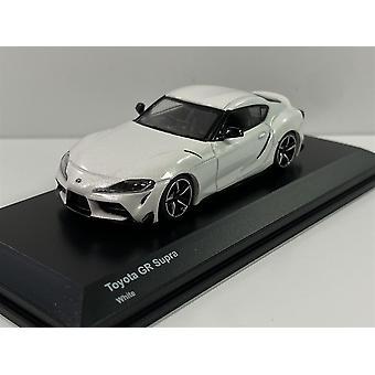 Toyota GR Supra White 1:64 Scale Kyosho 7110W