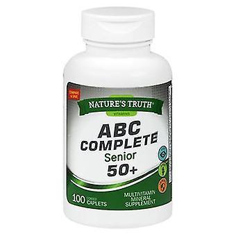 Nature's Truth ABC Complete Senior 50+ Multivitamin, 100 Tabs