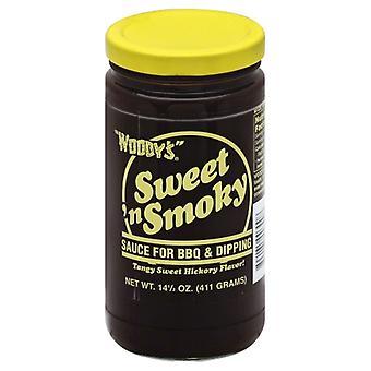Woodys Sauce Sweet N Smoky, Case of 6 X 14.5 Oz