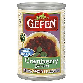Gefen Sauce Cranbry Whole, Case of 24 X 16 Oz