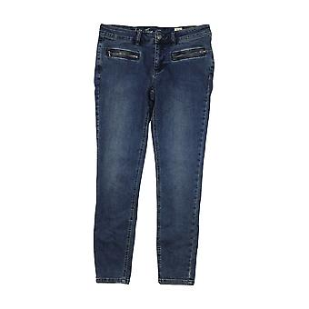 Free People Womens Jet Low Rise Skinny Jeans