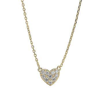 Women Short Chain Heart Star Pendant Necklace Heart Pendant Chain Link Necklace