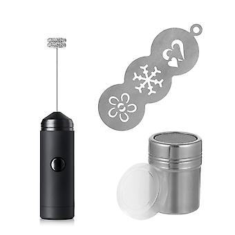 Mini Handheld Silicone Electric Milk Frother Coffee Blender