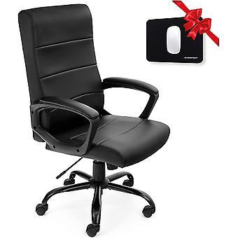 Bürostuhl Ergonomisch Design - Kunstleder-Schreibtischstuhl gepolstert, Hochlehner-Büro- &