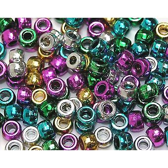 Assorted Metallic Pony Beads for Kids Crafts - 1000pk