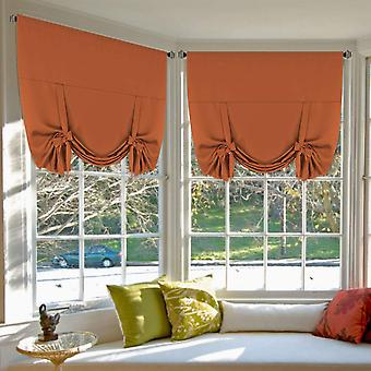 Copy of copy of 2x roman curtains tie up  curtains for small window blackout curtains rod pocket window draperies / shade, orange
