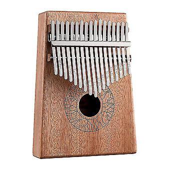 كاليمبا الإبهام البيانو 17 مفاتيح آلة موسيقية محمولة لمحبي الموسيقى