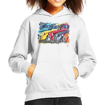 Citroen 2CV I en linje Retro Photo Kid's Hooded Sweatshirt
