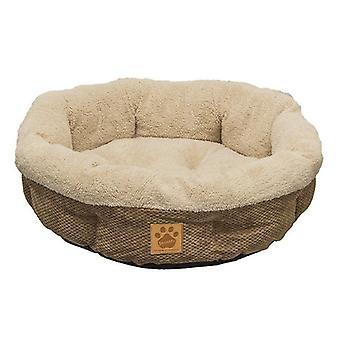 "Precision Pet Natural Surroundings Shearling Dog Donut Bed - Coffee - 21"" Diameter x 5"" High"