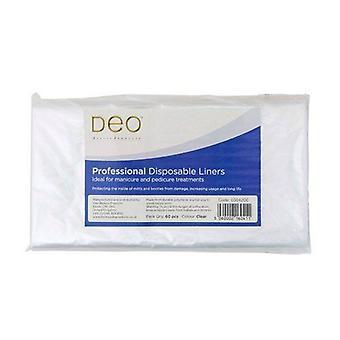 DEO Engångs liners för manikyr & pedikyr behandlingar - Klart - Paket med 60