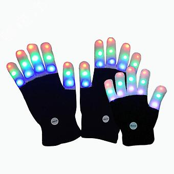 Glowing Gloves Halloween Led Shiny Gloves For Kids Festive Cool Dress Up Accessories