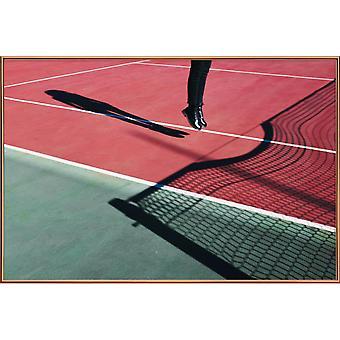 JUNIQE Print - High Jump - Tennis Poster en vert et rouge