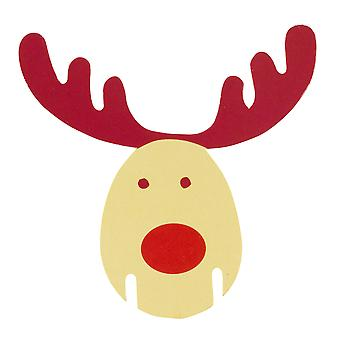 Rocking Rudolf - Place Card for Glass