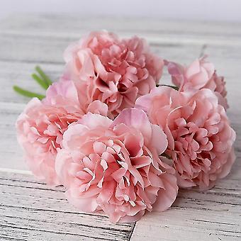 Peonías artificiales falsas para la decoración del hogar y la organización de eventos (Deep Pink)