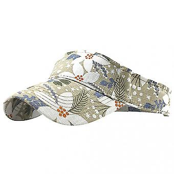 Washed Canvas Printed Outdoor Sun Hata