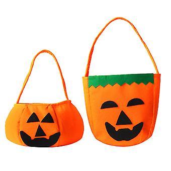 Halloween Pumpkin Bag Kids Candy Bag For Halloween Party Costumes
