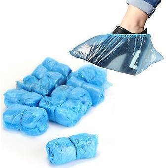 100ks jednorazové topánky pokrýva kryt podlahy chránič kobercov Modré čistenie