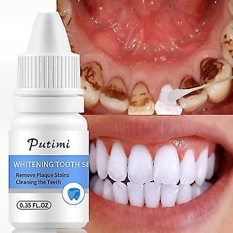 Tandblekning essens tar bort plack fläckar
