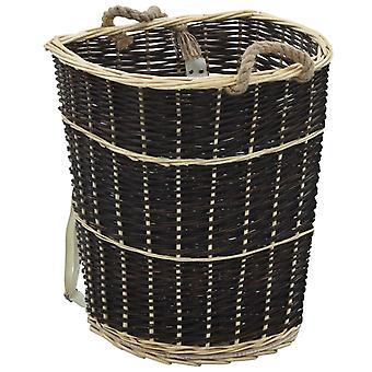Sac à dos en bois de chauffage Chunhelife avec ceintures de transport 57x51x69 Cm Saule naturel