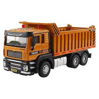 Dump Truck Model Car Alloy Acousto-optic Pull Back Engineering Vehicle Children's Gift
