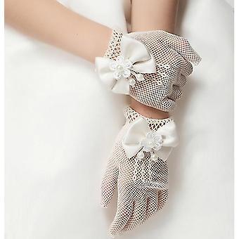Prinzessin Blumenmädchen Mesh Handschuhe für Kostüm Zubehör