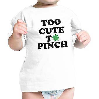 Too Cute To Pinch Black Cute Infant Baby Shirt For St Patricks Day
