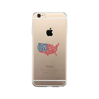 Happy Birthday Usa Clear Phone Case