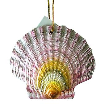 Tropical Beach Seashell Christmas Ornament Purple ORNShell05 Resin