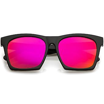 Róg nowoczesnej oprawie okulary Square kolor dublowanego płaski obiektyw 54mm