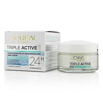 L'oreal Triple Active Multi-Protective Day Cream 24h Hydration - für normale / Kombination Haut - 50ml / 1.7oz