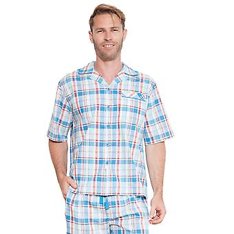 Cyberjammies 6221 Men's James Blue Check Pajama Top