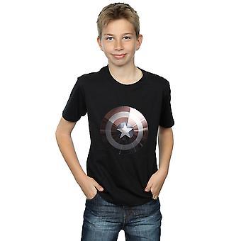 Marvel Boys Kapteeni Amerikka Shield kiiltävä T-paita