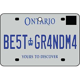 ONTARIO - bedste bedstemor licens plade bil luftfriskere