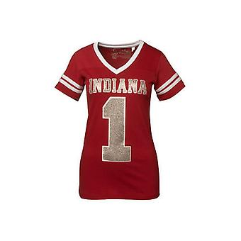 Indiana Hoosiers NCAA Press Box V-Neck Jersey Tee